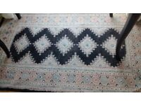 striking hand knotted wool rug