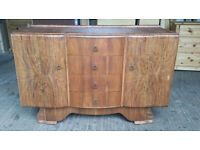 Vintage Art Deco Solid Wood Sideboard