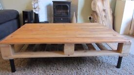 2 x Reclaimed pallet wood coffee table. Rustic, Hand made, Vintage, Industrial chic.