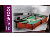 Desktop Pool, virtually brand new (Used only once).