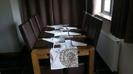 Next Hartford Dining Table & 6x Chairs - Brand New