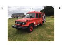 Toyota Landcruiser fire engine 70 series 4.2 Diesel