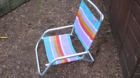 cheap and cheerful ultra low foldup seat for the beach