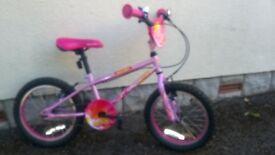 """Girls Apollo Roxie bicycle 16"""" wheels."""