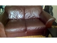 settee 2seater leather