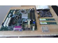 Bundle motherboard + Dual Core+ 2 GB Ram+ 500 GB HDD+ Blaster Sound card +TFT 19 Monitor + Tower