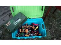 Toy chest with toys