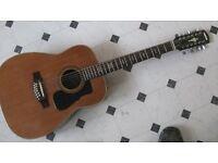 Acoustic 12 String Guitar.....Kasuaga....Japanese...1970's....Gig Bag...spare strings...Excellent