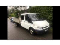 2003 ford transit 2.4 lwb crew cab drop side only 90k miles drives perfect