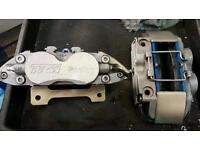 Honda civic fn 2 4 pot big brake calipers and carriers and pads