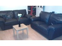 Can deliver modern Harvey's 2+3 seater real leather sofas in very good condition