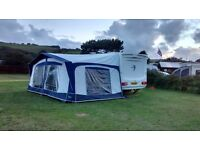Swift challenger caravan, new bradcott awning, hitchlock and camping extras inc storage to August 17