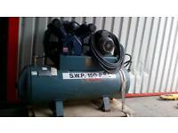 h.p.c air compressor 215 litre 3phase in good working order call 07498143887