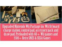 Upgraded Wii with 50+ Wii games and more