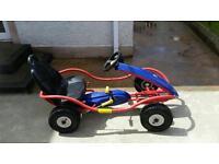 Blue & red pedal go kart,