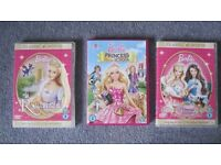 Barbie DVDs x 3