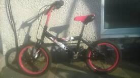 Boys Bike - red and black
