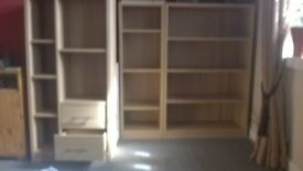 3 piece bookshelf unit