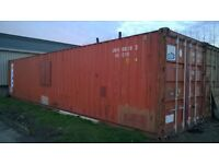 shipping container 40ft, clean and tidy with a secure window in one side. £1200 ono.