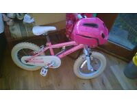 "GIRLS FAIRIES BIKE 14"" WHEELS GREAT CONDITION COMES WITH HELMET"