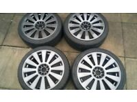 AUDI VW ALLOY WHEELS MULTI FIT 5X100 5X112 AND TYRES