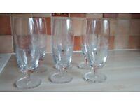 6X PILSNER URQUELL GLASSES. Location Dereham