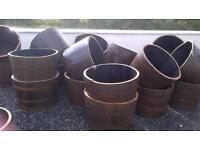 Half Whisky barrel planters