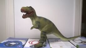 3 x Tyrannosaurus rex dinosaur toy 22 inch long x 14 inch high + 2 more dinosaurs,one walks