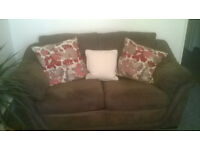 2 and 3 Seater Suede Effect Settee