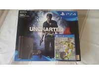 NEW PS4 Slim with FIFA 17 and Uncharted 4