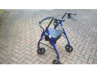 Mobility Aid. Walking Frame with Seat.