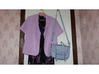 Wedding outfit and bags . Used once