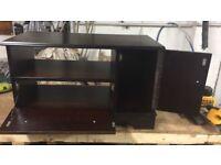 TV, DVD wooden cabinet, storage,