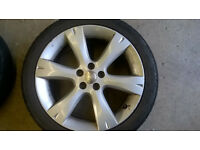 Subaru alloys wheels and winter tyres 215/45/17 215x45x17 Corsa