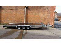 **** hire** Brand new Brian James TT365 Car Transporter Trailer 3500 kg gross 16ftx7ft bed *sale**