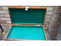 I have a nice wooden tool box forsale in very good condition like new......
