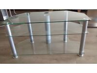*****GLASS TV STAND - JUST REDUCED*****