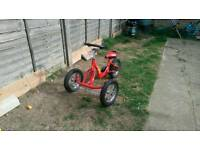 3 wheeled bike with steering wheel