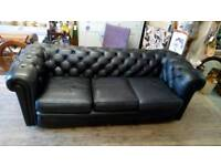 Chesterfield settee and 2 chairs