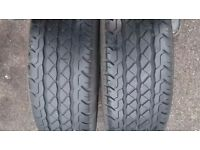 "VW T5 16"" STEEL WHEEL WITH TYRES 5MM TREAD EACH"