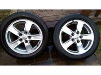 Toyota avensis mk 2 alloys and tyres £100