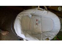 Moses basket with stand. Collection only