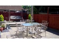 Garden table and chairs hammock matching set