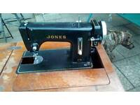 Retro jones sewing machine