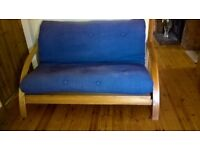 Pine Futon settee/double bed