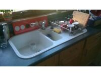 Kitchen sink 1.5 bowl with mixer tap