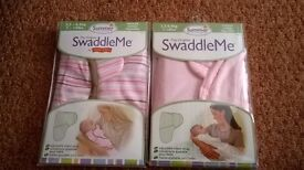 2 baby swaddles pink/pink stripe or blue/blue stripe 7-14 lbs £8 for 2 (new)