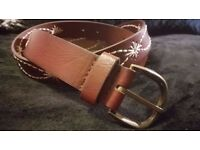 Ladies Embroidered Brown Belt