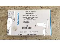 Snow Patrol 2 x Standing Tickets 20 May 2018 Ulster Hall