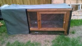 Thermal waterproof hutch cover